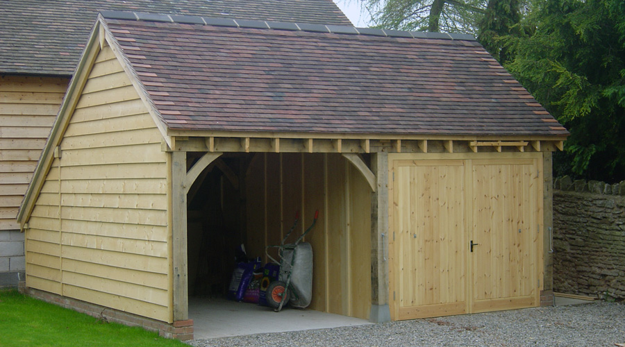 Exceptional Garage Designs #3: Oak-framed-double-garage.jpg